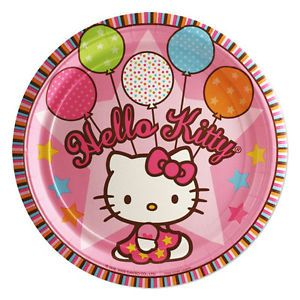 Hello Kitty Birthday Party Supply Set for 8 Plates Napkins Banner Table Cover