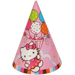 Hello Kitty Birthday Party Supply Party Hats 8 Hats