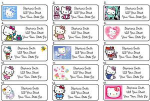 Personalized Hello Kitty Address Labels Set 1 30 per Sheet Buy 5 Get 1 Free