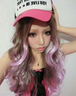 75cm Fashion Cute Women Girls Long Curly Hair Wigs Wig Cosplay Costume Party New