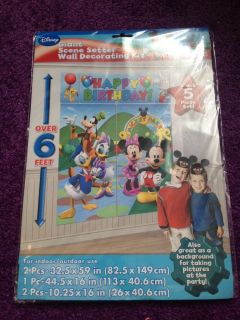 Mickey Mouse Club House Wall Decorating Kit Happy Birthday