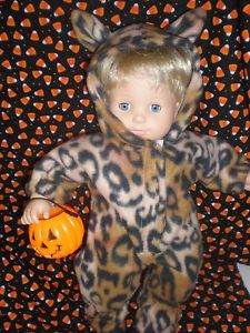 Clothes Bitty Baby Twins Leopard Halloween Costume Sleeper