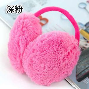 Children Kids Girl Hot Pink Velvet Ear Muffs Warmers