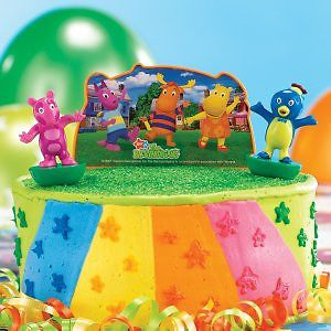 Backyardigans Uniqa Party Favor Cake Topper Birthday Supplies Cupcake Decoration