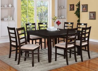 One Square Dinette Kitchen Dining Table in Cappuccino Chair Is not Included