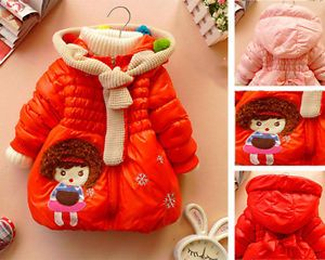 Baby Girls Snowsuit Coat Jacket Gown Kids Winter Warm Jackets Outerwear Clothing