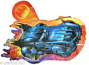 Batman Large Mylar Balloon Batmobile Super Shape Birthday Party Supplies