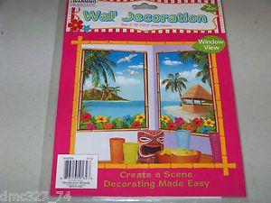 Luau Tiki Beach Pool Party Decor Create A Scene Wall Door Mural Window View