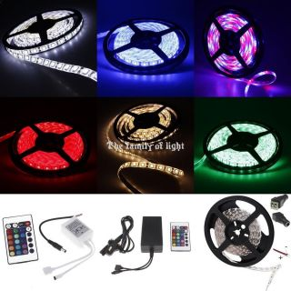5M 3528 5050 SMD 300 LED Waterproof Flexible Strip Lights Car Party Lighting