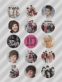 A402 Edible Image Birthday Decor Cake Cookie Cupcake Toppers 1D One Direction
