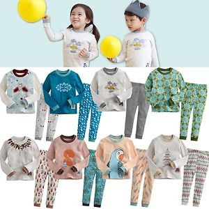 "Korea 2pcs Baby Toddler Kids Girl Boy Clothes Sleepwear Pajama Set ""Mimir 8"""