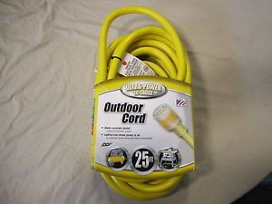 Coleman Cable 02687 10 3 Vinyl Outdoor Extension Cord with Lighted End 25ft New