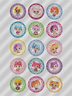 N404 Edible Image Birthday Cake Cookie Cupcake Toppers Rag Doll Lalaloopsy
