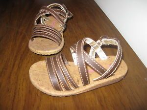 Toddler Girls Carters Brown Sandals Pandora Dress Shoes