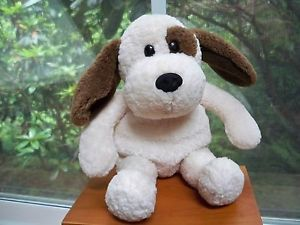 Gund Stuffed Plush Cream Beagle Dog Red Collar Brown Patch Over Eye Brown Ears