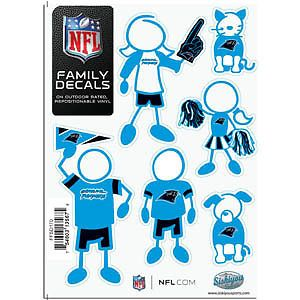 Carolina Panthers Logo NFL 6pk Family Car Decal Set Sheet New
