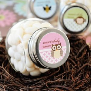 24 Personalized Baby Shower Animal Candy Jars Favors