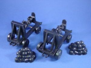 Marx Toy Soldiers Fighting Knights Playset Catapults