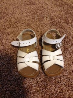Saltwater Toddler Girls 6 White Sandals Shoes Spring Summer