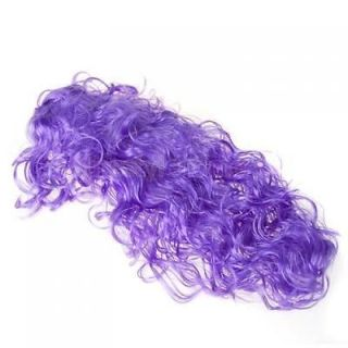 Holloween Costume Purple Wave Curly Hair Wig Halloween Party Favors Supplies