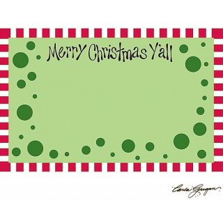 Red Green Enclosure Cards Pack of 50 Merry Christmas Y'All Collection