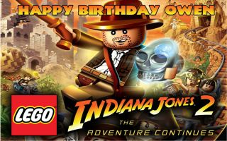 Lego Indiana Jones Edible Cake Image Frosting Sheet Topper