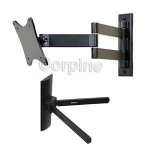 "Tilt Swivel Wall Mount for 15 27"" LCD LED Flat Screen TV Monitor DVD Mount M40"