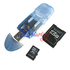 8GB 8g Micro SD SDHC TF Flash MicroSD Memory Card Reader