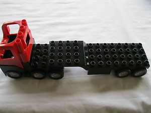 Lego Duplo Semi Truck and Trailer Flatbed