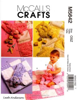 McCall's Pattern M5642 Baby Blanket Stuffed Animals Dog Duck Lamb Toy 5642