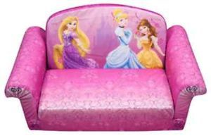 Childs Disney Princess Pink Girls Flip Open Sofa Toddler Preschool Couch Chair