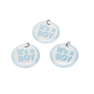 Baby Shower Favors It's A Boy Charms Blue 12 Pieces