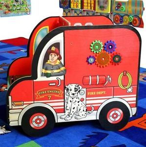 Fire Engine Truck Kids Activity Center Children's Educational Toy Made in USA 3