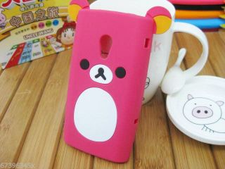 Lovely Cute Teddy Bear Silicone Soft Cover Case for Sony Ericsson x10 Xperia S