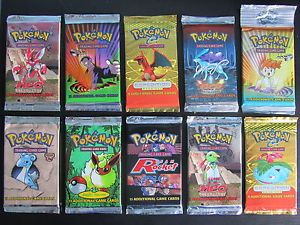Pokemon Trading Card Game Original Wizards of The Coast Booster Packs