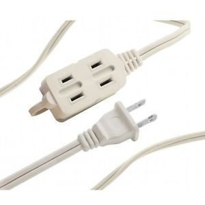 4 Pack 6ft 3 Outlet Power Extension Cord Indoor Extension Cord Cable