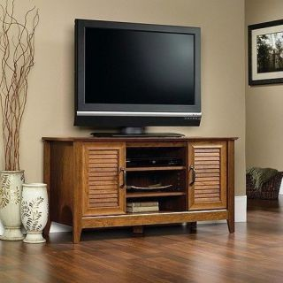 "TV Stand Cherry TVs Up to 47"" Entertainment Center Flat Screen Storage Console"