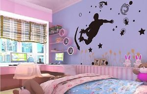 Skateboarding Extreme Sports Vinyl Art Decals Wall Sticker F Boy Child Bedroom