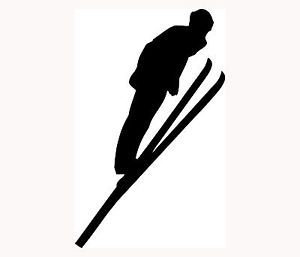 Ski Sticker Skier Silhouette Car Window Vinyl Decal Extreme Sports Snow Cold S1