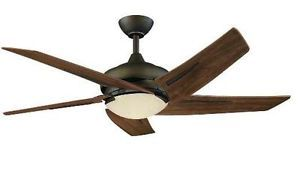 Hampton Bay Sidewinder 54 inch Ceiling Fan w Remote Control Light Kit Bronze