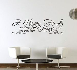 Happy Family Quotes Wall Decal Decor Lettering Home Stickers Removable DIY