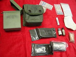 US Gi Army Military Improved First Aid Kit IFAK Medical OD with Supplies