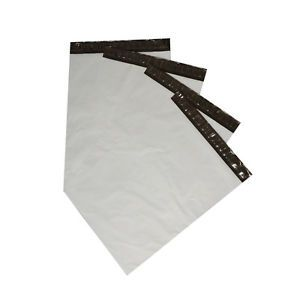 "100 19""x24"" White Poly Mailers Self Seal Plastic Shipping Envelopes Mailing Bag"