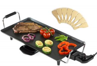 New Caravan Camping BBQ Compact Electric Griddle Grill