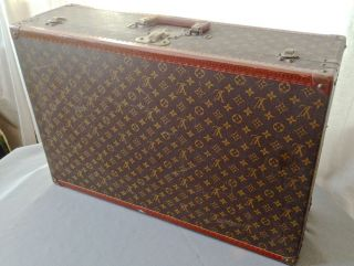 Vintage Authentic Louis Vuitton Hard Side Suitcase Case Trunk Luggage 903498