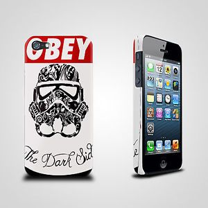 New Star Wars Stormtrooper Obey Dark Side Apple iPhone 5 Hard Case Cover