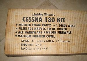 New Vintage Hobby Shack Cessna 180 R C Airplane Kit RC Foam 049 Engine