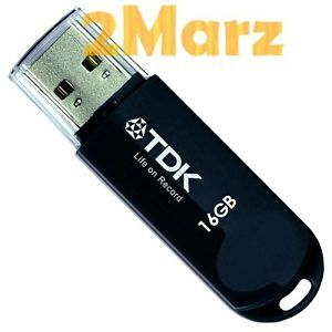 TDK Trans It Mini 16GB 16g USB Flash Drive Thumb Disk Memory Stick Glossy Black