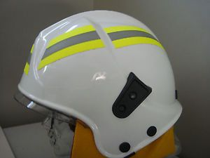 RARE New White Gallet Fire Fighting Helmet