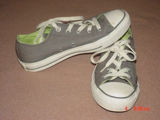 Womens Converse Gray All Star Shoes Size 6 Canvas Grey Flat Sneakers Girl Tennis